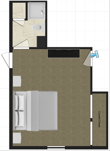 Current Master Suite Floorplan