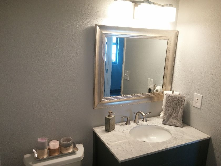 New vanity in half bath