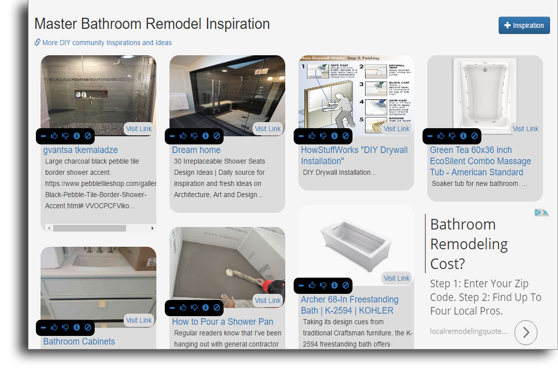 Remodel Inspiration tool snapshot